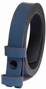 25mm Blue Snap Fit Leather Belt